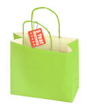 Shopping bag and warranty tag Stock Images