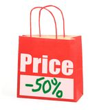 Shopping bag on white Royalty Free Stock Photography