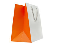 Shopping bag on white background Stock Images