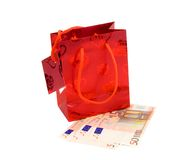 Shopping Bag With Euro Stock Photography