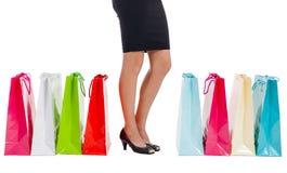 Shopping bag woman - shopper concept Stock Photography
