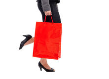 Shopping bag woman - shopper concept. Beautiful woman leg with a lot of shopping bags Royalty Free Stock Photo