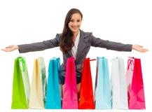 Shopping bag woman - shopper concept Stock Photo
