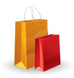 Shopping bags. Hand vector drawing. Detailed image Royalty Free Stock Photo