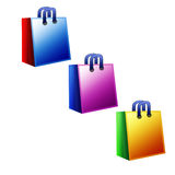 Shopping bags. Color shopping bags Stock Images