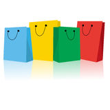Shopping bags. Collection on white background Stock Photo