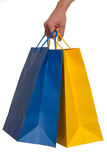 Shopping Bags. Isolated shopping bags on a white background Royalty Free Stock Images