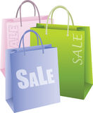 Shopping Bags. On white background Stock Image