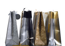 Shopping Bags. Four Luxury Shopping Bags With Beads royalty free stock photos