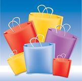 Shopping Bags. Colourful shopping bags created as vector art Royalty Free Stock Photos
