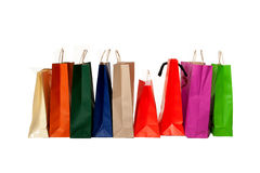 Shopping bags. Many colorful of shopping bags Stock Photography