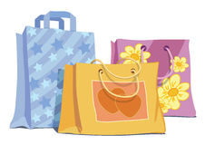 Shopping bags. Vector illustration of shopping bags Royalty Free Stock Photos