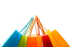 Shopping bags. A shot of a bunch of colorful shopping bags stock photography