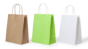 Shopping bags. Isolated on a white background Stock Photography