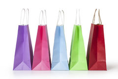 Shopping bags. Isolated on a white background Stock Images