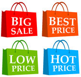 Shopping bags. With discount opportunities royalty free illustration