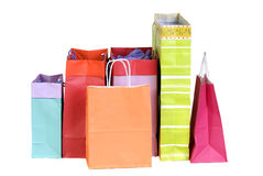 Shopping bags. Two shopping bags full of something. Christmas, holidays, shopping, malls Royalty Free Stock Photography