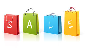 Shopping bags. Set of colorful shopping bags Royalty Free Stock Photography