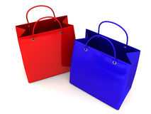 Shopping bags. 3d Stock Photo