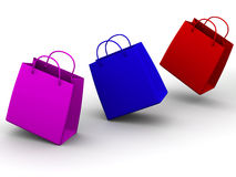 Shopping bags. 3d vector illustration