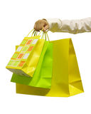 Shopping Bags. A photo of a woman holding shopping bags stock photography