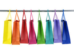 Shopping Bags. Colorful Shopping Bags on white backgroung stock images