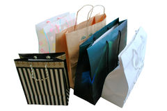 Shopping Bags. Collection of Upscale Shopping Bags Royalty Free Stock Photography
