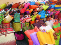 Shopping bags. A close up of colorful shopping bags royalty free stock images