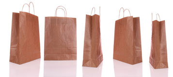 Shopping bags. Paper shopping bags on white background Royalty Free Stock Images
