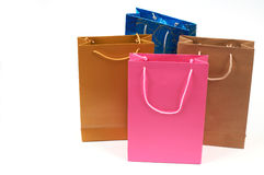 Shopping bags. Colorful shopping bags on white Royalty Free Stock Photo