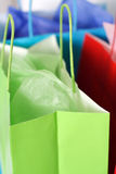 Shopping bags. Three colorful shopping bags stock images