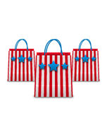 Shopping Bags in American Patriotic Colors. Packets Isolated on White Background. Illustration Shopping Bags in American Patriotic Colors. Packets Isolated on royalty free illustration