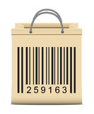 Shopping bags with bar code Royalty Free Stock Photos