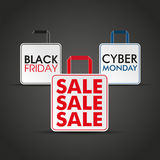 Shopping Bags Black Friday Cyber Monday Stock Images