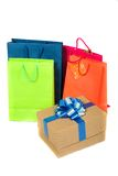 Shopping bags in bright colours Stock Images