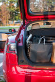 Shopping bags in car Stock Photography