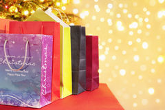 Shopping bags for Christmas Royalty Free Stock Image