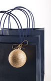 Shopping bags and Christmas bubble Royalty Free Stock Images
