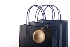 Shopping bags and Christmas bubble Stock Photo