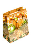 Shopping bags with christmas picture Royalty Free Stock Photo