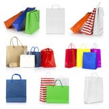 Shopping bags collection Royalty Free Stock Image