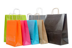 Shopping bags collection on white background Royalty Free Stock Photos