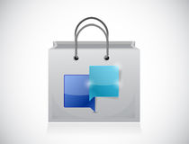 Shopping bags and communication bubbles. Stock Images