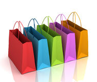 Shopping bags   3d illustration Stock Image