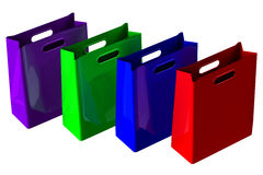 Shopping bags. 3D rendering. Stock Photo