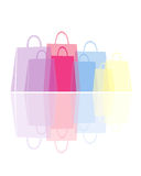Shopping bags in delicate pastels Stock Photography