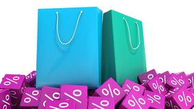 Shopping bags and discounts Royalty Free Stock Photo