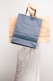 Shopping bags on display Royalty Free Stock Images