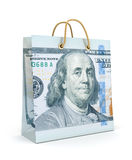 Shopping bags with dollar money Royalty Free Stock Photography