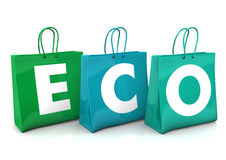 Shopping Bags ECO Royalty Free Stock Photos
